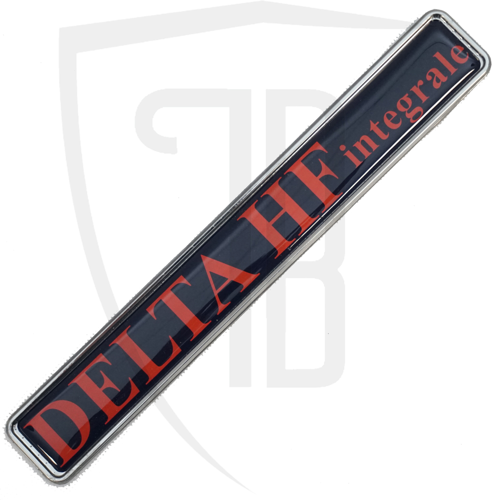 HF integrale tailgate badge
