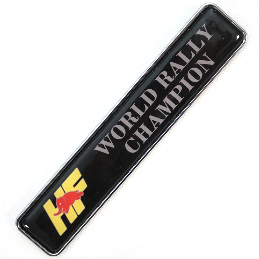 HF World Rally Champion badge