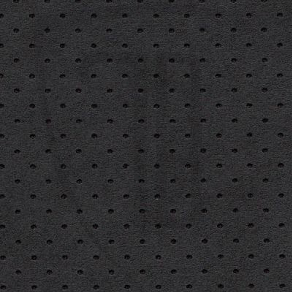 Black Alcantara Perforated