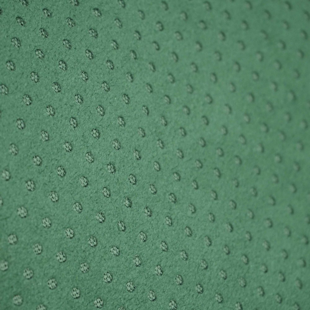 Green Alcantara Perforated
